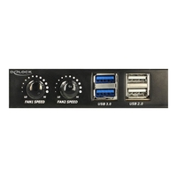 DeLOCK 3.5´´ Front Panel > 2 x USB 3.0 + 2 x USB 2.0 and fan control - Anschlüsse am vorderen