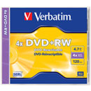DVD vierges ré- inscriptible de Verbatim®, DVD- RW
