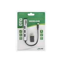 InLine OTG Cardreader with 3 Port USB Hub - Kar...