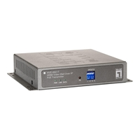 LevelOne HVE-6601T HDMI Video Wall Over IP PoE Transmitter - Video Extender - 100Mb LAN, GigE