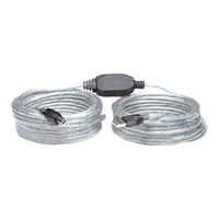 Manhattan USB-A to USB-B Cable, 11m, Male to Male, Active, 480 Mbps (USB 2.0), Built In Repeater,