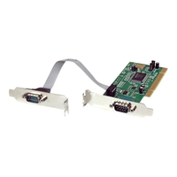 StarTech.com 2 Port Serielle RS232 DB9 Low Profile PCI Schnittstellenkarte (PCI2S550_LP)